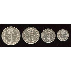 Great Britain. Edward VII 1901-1910 . Maundy Set.