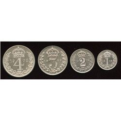 Great Britain. Edward VII 1901-1910 . Maundy Set.