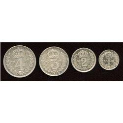 Great Britain. George V 1910-1936. Maundy Set.