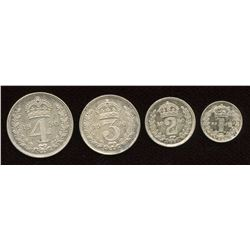 Great Britain. George V 1910-1936. Maundy Set.