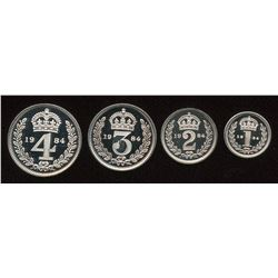 Great Britain. Elizabeth II 1952- Maundy Set.