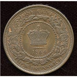 1864 New Brunswick One Cent. Lot of 2