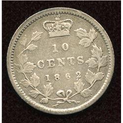 1862 New Brunswick Ten Cents
