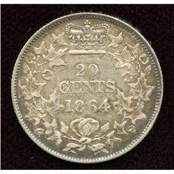 1864 New Brunswick Twenty Cents