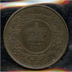 1861 Nova Scotia One Cent
