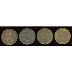 Nova Scotia Half Cent. Lot of 4