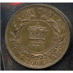 1876H Newfoundland One Cent