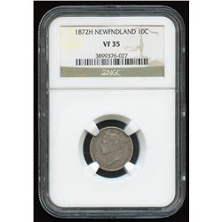 1872H Newfoundland Ten Cents