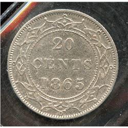 1865 Newfoundland Twenty Cents