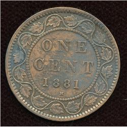 1881H One Cent - Double Die