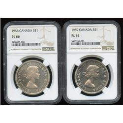 1958 & 1959 Silver Dollars
