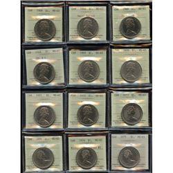 Complete Set of Nickel Dollars