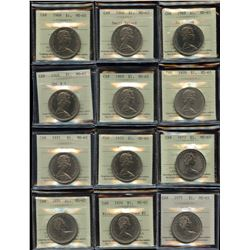 Complete Set of Nickel Dollars