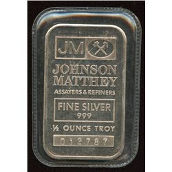Johnson Matthey 1/2 Silver Bar