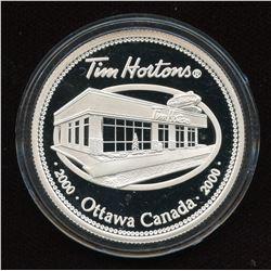 2000 Tim Hortons .999 Fine Silver 1 Oz Round