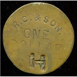 British Columbia, Hazelton, Private Fur Trade Token.