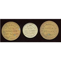 Ontario Merchant Tokens - Lot of 3