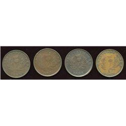 Nova Scotia. Thistle counterfeit Halfpennies. Lot of 4