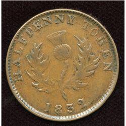 Nova Scotia, Counterfeit Halfpenny, Br. 871, Co 278.