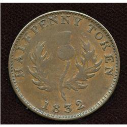 Nova Scotia. Br. 871, Co 278. Counterfeit Halfpenny,