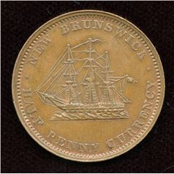 New Brunswick. Br. 912. Halfpenny, 1854