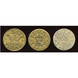 Iliffe Tokens. Lot of 3