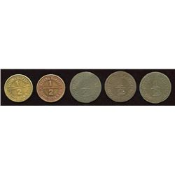 Dompierre & Co. Tokens. Lot of 5