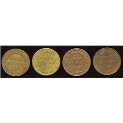 L.G. Marineau Tokens. Lot of 4