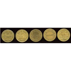 Ontario Tokens. Lot of 5