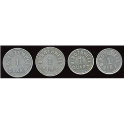Ontario Tokens. Lot of 4