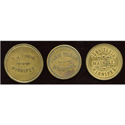 Manitoba Tokens. Lot of 3