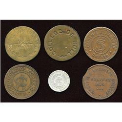 College Tokens. Lot of 6