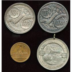 Toronto Semi-Centennial Medallions. Lot of 4