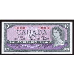 Bank of Canada $10, 1954 Radar - One Digit