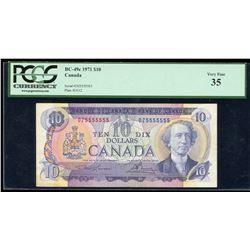 Bank of Canada $10, 1971 Radar - One Digit