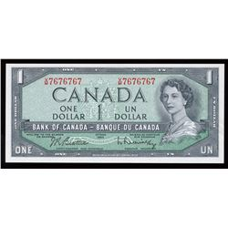 Bank of Canada $1, 1954 Radar - Two Digits