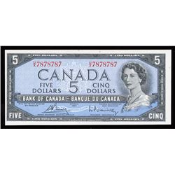 Bank of Canada $5, 1954 Radar - Two Digits