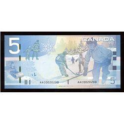 Bank of Canada $5, 2008 Radar - Two Digits