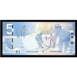Bank of Canada $5, 2009 Radar - Two Digits