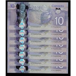Bank of Canada $10, 2013 Polymer Radars