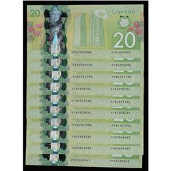 Bank of Canada $20, 2012 Polymer Radars