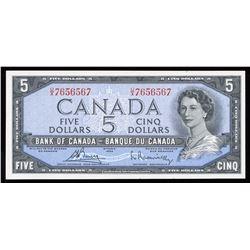 Bank of Canada $5, 1954 Radar - Three Digits