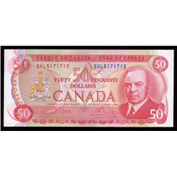 Bank of Canada $50, 1975 Radar - Three Digits