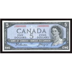 Bank of Canada $5, 1954 Low Serial Number