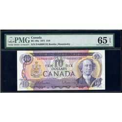 Bank of Canada $10, 1971 Low Serial Number