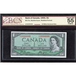 Bank of Canada $1, 1954 Ten Million Numbered Note