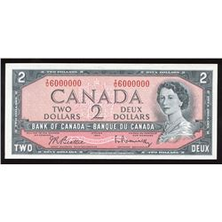 Bank of Canada $2, 1954 Million Numbered Note