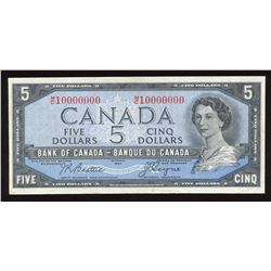 Bank of Canada $5, 1954 Ten Million Numbered Note