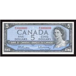 Bank of Canada $5, 1954 Million Numbered Note