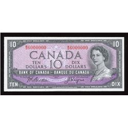 Bank of Canada $10, 1954 Million Numbered Note